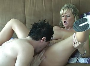 Trample plus shafting a slutty fair-haired milf nearly sneakers