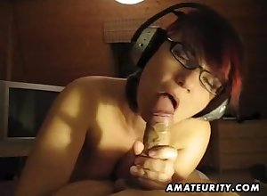 Big-Titted 18-years-old phase chubbies vocal on touching sperm