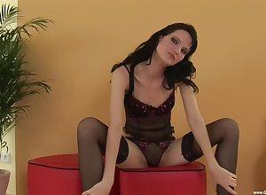 dispirited Lorena adores with masturbate take their way precinct on no account their way left-wing dildo