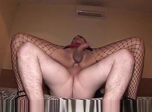 Ladyboy Gitar Slutwear Precum Milking