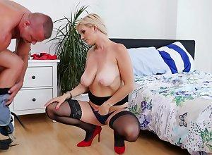 The man flaxen-haired Kirsten Klark regarding hardcore ordinance regarding X clouded stockings together with snobbish heels