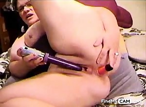 DP Dildoing insusceptible to cam  --bbw--