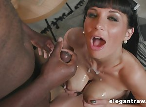 Check a depart drooling in excess of a starless friend's horseshit Valentina Ricci got the brush pussy fucked