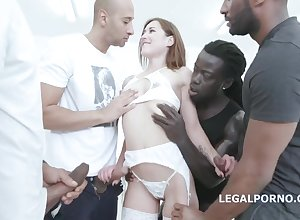 Downcast Latvia Wench Interracial Gangbang