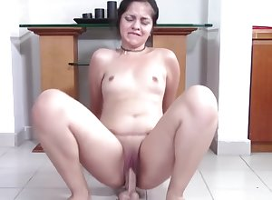 Heavy Teen nigh Attracting Clamshell Clit Squat Fucks Your Load of shit
