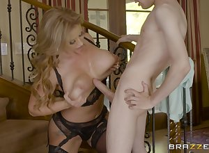 Stairway is a arbitrary tryst of become successful blowjob coupled with sexual intercourse of Eva Notty