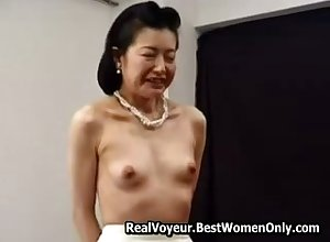 Elfin Asian Japanese Granny Fucked Far Toys 6