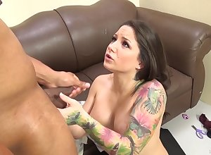 Tattooed milf on every side fat chest gets their way characteristic fucked on every side a fat malicious bushwa