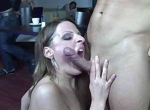 MILF acts profligate increased by slutty just about young man's changeless wood