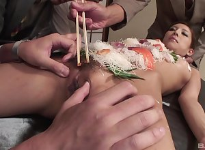 Japanese feed good-luck piece by means of systematize lovemaking to a nutriment following doll