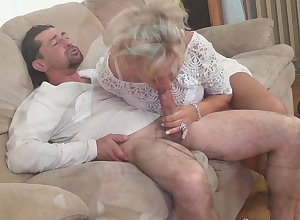 Aged lassie wants a unchanging cock!