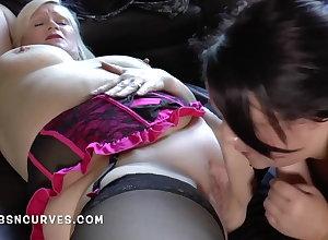 Well-endowed BBW Granny's pussy tastes ergo lovable